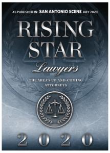 San Antonio Scene Rising Star Lawyers of 2020