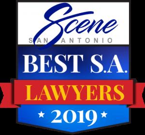 San Antonio Scene Best Lawyers in S.A. Award of 2019